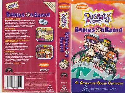 Rugrats Babies On Board Vhs Pal Video~ A Rare Find