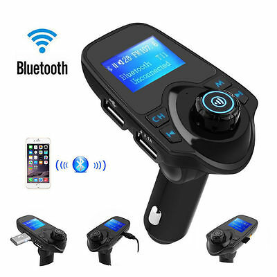 Wireless LCD Bluetooth Car MP3 FM Transmitter AUX USB Disk Charger Handsfree3.0