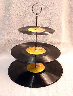 VINYL RECORD 3 tier cake stand  - Wedding Birthday Party Gift Cup Cake