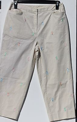 EP Pro Womens Golf Pants Off White Size 10
