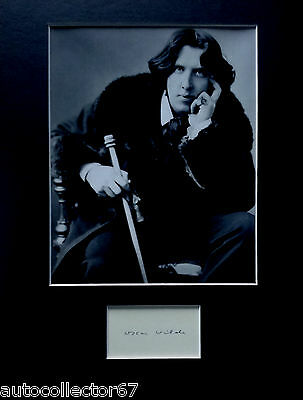 OSCAR WILDE signed autograph PHOTO DISPLAY