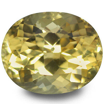 3.79 Ct Excellent!! Luster Top Rich Fire Natural Yellow Beryl
