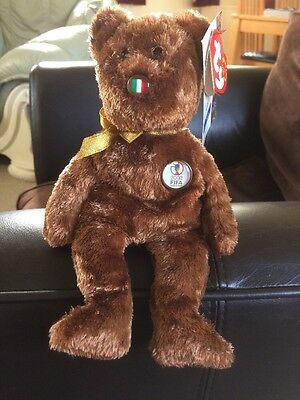 "Ty Beanie Babies Buddy ""ITALY"" The World Cup Bear Mint Condition Incl Tag  SALE"