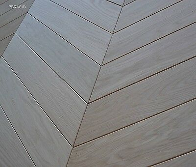 Hungarian Point Oak Chevron Parquet Solid Wood S21AC5 Real Hardwood