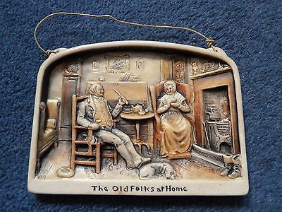 Nice Osborne Ivorex wall plaque - Old Folks at Home - 1932