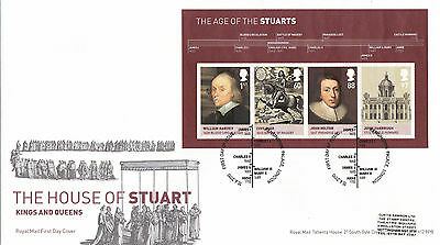 GB 2010  The House of Stuart - Miniature Sheet - FDC with SHS.