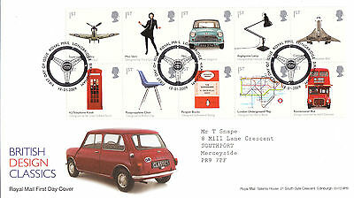 GB  2009  British Design Classics - Set of Stamps - FDC with SHS (Addressed) B.