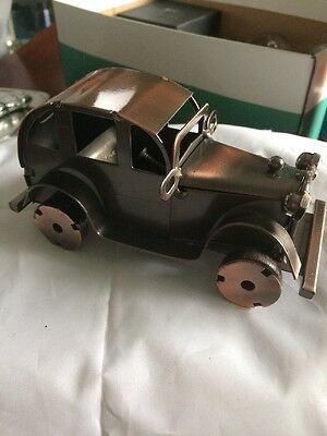 Metal Model Vintage Style Nuts And Bolts Car
