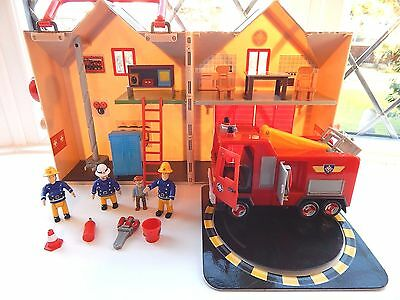 Fireman Sam Deluxe Fire Station Playset With Jupiter Fire Engine And 4 Figures