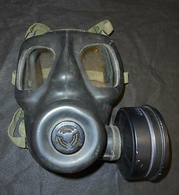 British Military Army S6 Gas Mask / Respirator with Filter, Size L, 1972