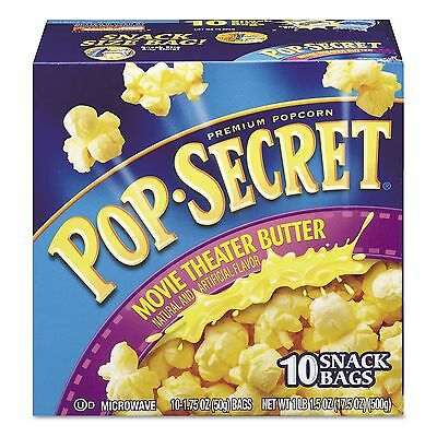 Pop Secret Movie Theater Butter Premium Popcorn Snack Bags 10 x 1.75oz GreatDeal