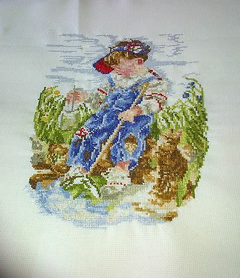 Completed Cross Stitch - A GOOD CATCH