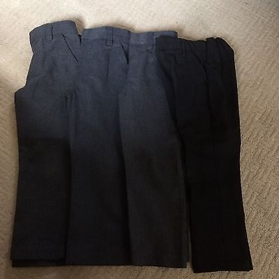 4 Pairs Of Boys School Trousers Age 4-5