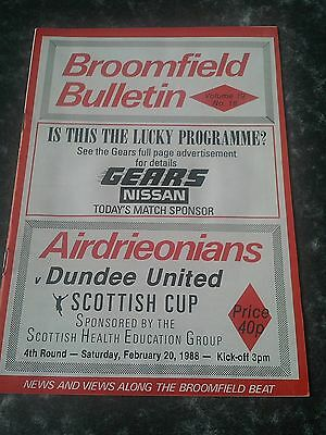 Airdrie V Dundee United Scottish Cup 87/88