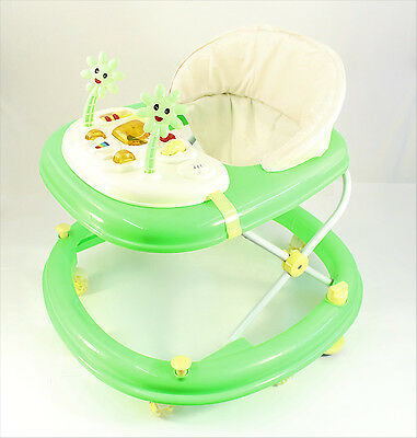 New Deluxe Baby Walker Musical Activity Toy Wheels Colour Play Table New GREEN