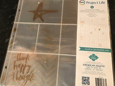 Becky Higgins project life Heidi Swapp Foil Photo Pocket Pages Gold