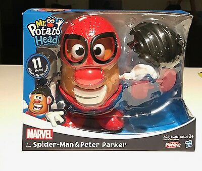 Mr Potato Sider-Man and Peter Parker Playskool 11 pieces