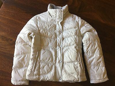 Down Puffer Jacket Cream With Removable Hood - Ladies Small