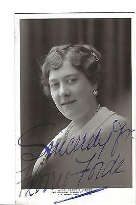 Singer. Miss Florrie Forde. Signed. Autograph. R/P. Tipperary.