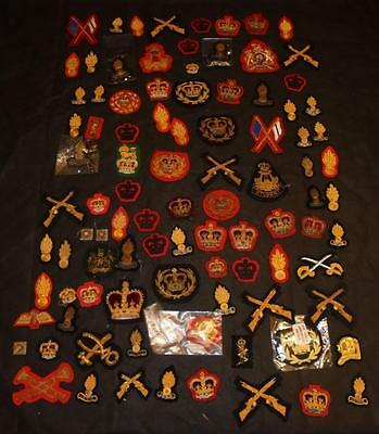 Job Lot of British Military Army Bullion Wire Cloth Patches / Badges / Pips etc