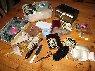 Large job lot vintage sewing, craft items