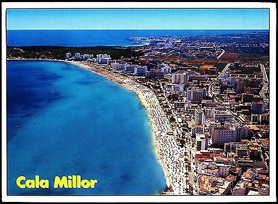 Postcard - Aerial View Cala Millor Mallorca -Spain  -Posted Stamp Intact