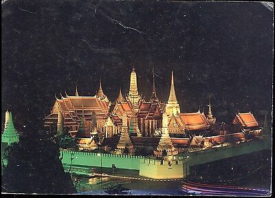 Postcard - Light And Sound At Wat Phra Kaew Bangkok Thailand Posted 1988 Stamped