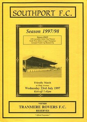 Southport v Tranmere Rovers 23/07/97 Friendly