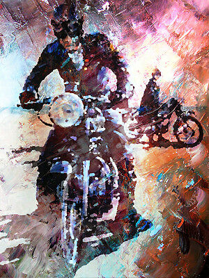 Motorcycle Art - Color 8 x 10 photo