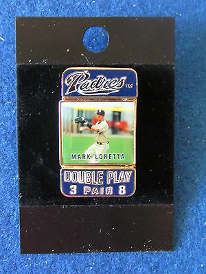 San Diego Padres Baseball Enamel Badge -Double Sided -Mark Loretta/Khalil Greene