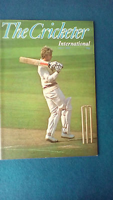 The Cricketer International July 1978 magazine. David Gower Test debut cover.
