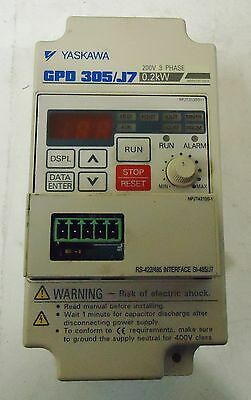 YASKAWA GPO305/J7 200V, 3PH. 0.2 kW. MADE IN JAPAN
