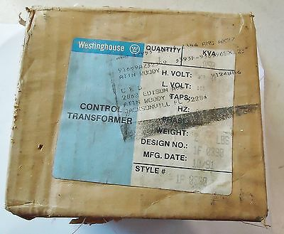 New Westinghouse Control Transformer 0.050 Kva, D. No. 1F0890 Type:mtc, S/n J