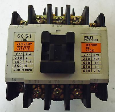 Fuji Electric Cat.# 4Nc0H0, Type: Sc-5-1 Contactor