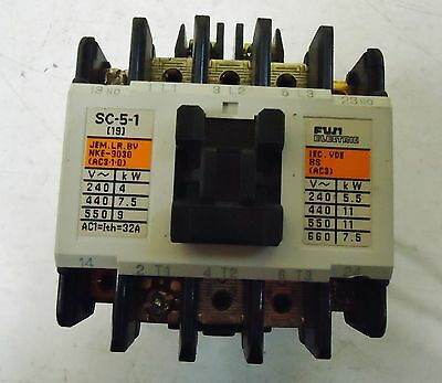 Fuji Electric Contactor Type Sc-5-1, Cat.#4Nc0H0, Made In Japan.