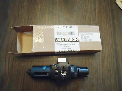 "New Wilkrson B08-02-Fkg0 Filter/regulator 1/4"" Npt 0-125 Psig"