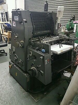 Heidelberg GTO 46 single colour offset press + numbering + perforating units