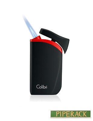 Colibri Falcon Single-Jet Flame Wind Resistant Refillable Cigar Lighter Red NEW