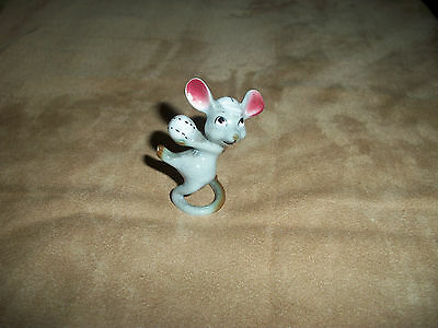 Vintage Miniature Mouse/Rat Baseball Pitcher Porcelain/China Figurine (Mcfarlin?