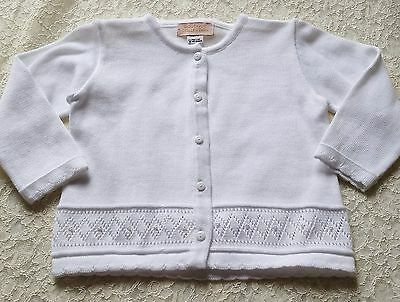 b2bc1ecea59 Girls BOUTIQUE COLLECTION white ivory cardigan 18M 24M NWT sweater dressy 18 -24