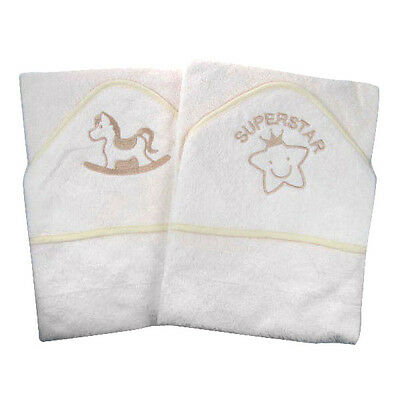 Brand New Cream Rocking Horse Hooded Baby Towel