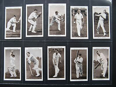 Cigarette Cards. Ogdens - Prominent Cricketers Of 1938. Full Set.