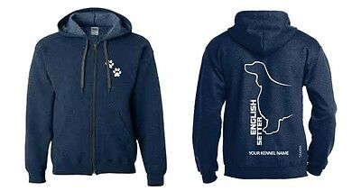 English Setter Dog Breed Hoodie, Dogeria Breed Design. Men's & Ladies  sizes