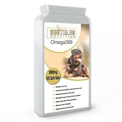 Bestia K9 Nutrition Omega 369 for large dogs. Special formula. UK manufactured