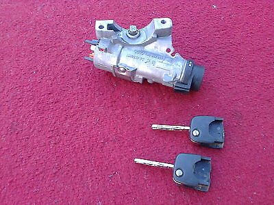 2003 Audi A6 C5 1.9 TDI Ignition Barrel Switch & 2 Keys 4B0905851G (No Key Fobs)