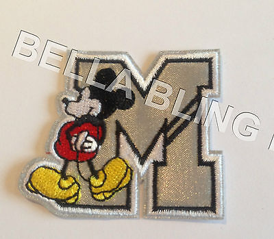 1 Embroidered Mickey Mouse Boys M Iron On Sew On Patch Clothes Craft