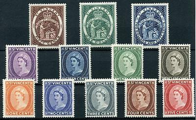 St Vincent 1955-63 set SG189/200 MLH