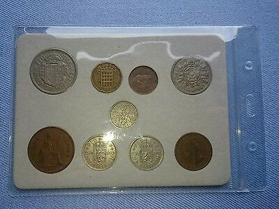 Vintage Great Britain(UK),1953 Coin Year Set.(Rare Penny,64TH Birthday Gift).��.