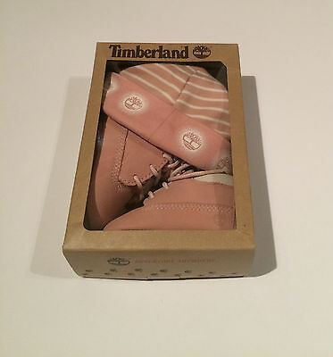 Timberland Baby Girl Boots and Hat Set 3-6 Months BNIB