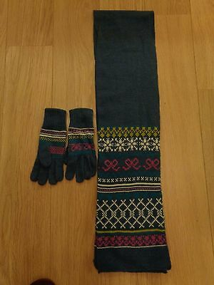 Bnwt With Tags Fairisle Scarf And Gloves Set One Size From Boots